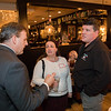 The Airfield Cafe owners Theresa and Scott Aversano speak with NH Governor Chris Sununu at the North Hampton Business Association Annual Meeting, Tuesday, February 4, 2020 at the Barley House Restaurant, North Hampton, NH.  Matt Parker Photos