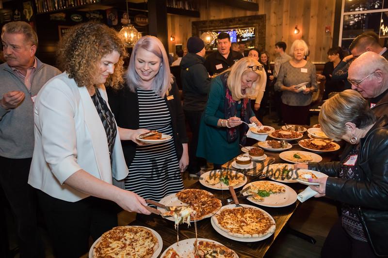 Food buffet at the North Hampton Business Association Annual Meeting, Tuesday, February 4, 2020 at the Barley House Restaurant, North Hampton, NH.  Matt Parker Photos