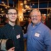 Andrew Higgins and Mike Higgins of the Old Salt Restaurant at the North Hampton Business Association Annual Meeting, Tuesday, February 4, 2020 at the Barley House Restaurant, North Hampton, NH.  Matt Parker Photos