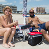 Yahaira Rivera and Pedro Rodriguez of Manchester CT enjoying Hampton Beach's opening weekend on Saturday June 6th 2020.  Matt Parker Photos