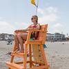 Hampton Beach Lifeguard and Winnacunnet standout swimmer Anne Rademacher at her post on Hampton Beach's opening weekend on Saturday June 6th 2020.  Matt Parker Photos