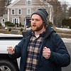 "Brennan Christen of Alton Bay and Co-organizer of Absolute Defiance explains to members and supporters the plan for Sunday's friendly protest, ""to end tyranny in the state of NH"", on 1-3-2021, Newfields NH.  Matt Parker Photos"