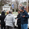 "A group of friendly protesters march on the Newfields Town Hall and Governors residence with a prayer and message ""to end tyranny in the state of NH"", on 1-3-2021, Newfields NH.  Matt Parker Photos"