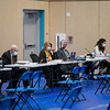 The Town of Hampton holds it's 1st deliberative session of the 2021 Annual Town Meeting on Saturday January 30th at Hampton Academy, Hampton NH.  Matt Parker Photos