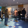 Hampton citizens register to receive a pink voting card as The Town of Hampton holds it's 1st deliberative session of the 2021 Annual Town Meeting on Saturday January 30th at Hampton Academy, Hampton NH.  Matt Parker Photos