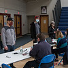 First Responders from local Fire and Rescue units adminstered the first does of the COVID-19 vaccine to Teachers, Administrators and Staff from local area seacoast schools at Winnacunnet High School, Hampton NH on Saturday March 20th, 2021.  Matt Parker Photos
