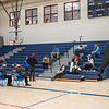 The resting area was located on the bleachers as First Responders from local Fire and Rescue units adminstered the first does of the COVID-19 vaccine to Teachers, Administrators and Staff from local area seacoast schools at Winnacunnet High School, Hampton NH on Saturday March 20th, 2021.  Matt Parker Photos