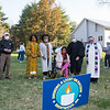"""Members of the United Church of Christ hold a vigil against racism outside of the Brentwood recreational Building as the Brentwood Selectmen hold a public meeting on whether to continue funding the Brentwood Newsletter after public outcry from a March editorial titled, """"Racism: From a White Man's Perspective."""" authored by Richard Gagnon which some say was """"racist"""", op-ed, on Tuesday April 20th, 20219, Brentwood Recreational Building, Brentwood NH.  Matt Parker Photos"""