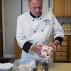 "The St. Vincent de Paul Community Kitchen's Cooking Series featuring renowned Chef Ron Boucher shows his technique for makeing ""Chicken Cordon Bleu"" on Wednesday 5-26-2021, 441R, Lafayette Road, Hampton NH.  Matt Parker Photos"