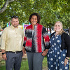 René Boudreau Hampton Recreation Director, Amanda  Reynolds-Cooper Lane Memorial Library Director and Stacy Mazur Assistant Director pose for a photo Thursday afternoon In front of the Academy Ave Playground in support of a Hampton Community Center on 9-23-2021.  Matt Parker Photos