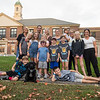 Centre School 2nd grader Evan Austin (center with hat) was diagnosed with Diffuse intrinsic pontine glioma (DIPG) here he poses for a photo with family and friends in support of ending childhood cancer.  The planned event, Light Up the Night To End Childhood Cancer, included the placement of candles around schools and surrounding areas of Hampton on Saturday 9-25-2021.  Matt Parker Photos
