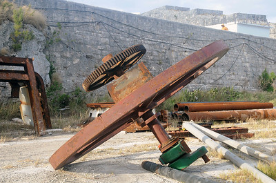 old cannon parts in Dockyard