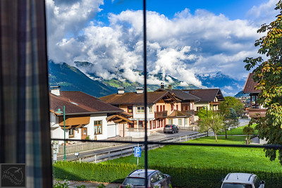 View of Stumm, Austria from the Rissbacherhof hotel room.