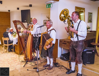 The band in a Stumm, Austrian wedding.