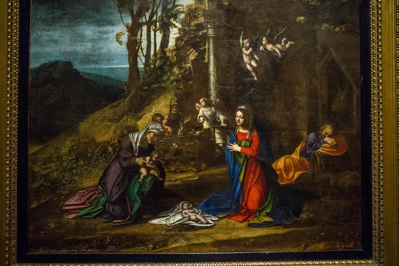 Nativity of Jesus with Saint Elizabeth and the Infant Saint John;  Correggio (Antonio Allegri).
