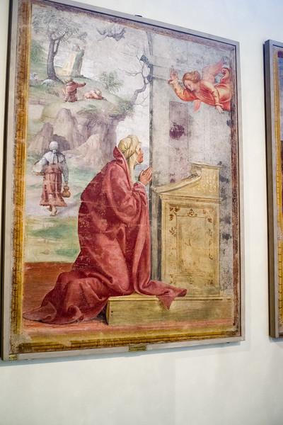 Annunciation to Saint Anne; Saint Joachim and the Angel in the Background;  Bernardino Luini.