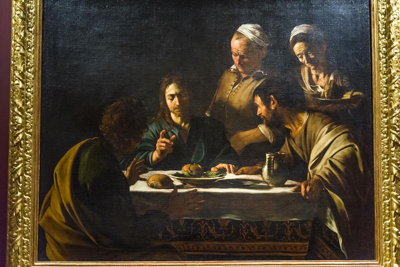 Supper at Emmaus; Caravaggio (Michelangelo Merisi).