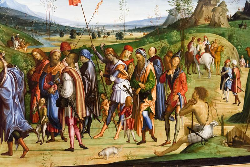 Detail of Adoration of the Magi; Lorenzo Costa il Vechio (the Elder).