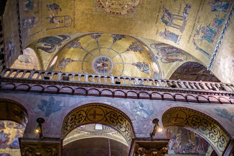 Inside St. Mark's Basilica.