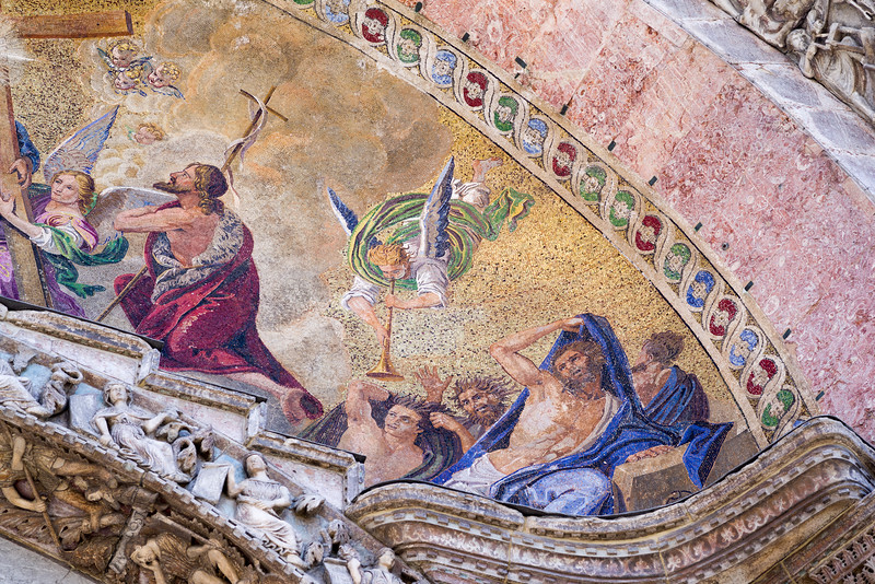 Right side detail of the Last Judgement mosaic.