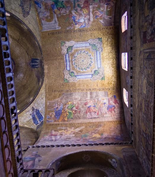 Ceiling inside St. Mark's Basilica.