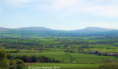 Mallerstang and Wild Boar Fell from Fox Tower, 14th May 2014