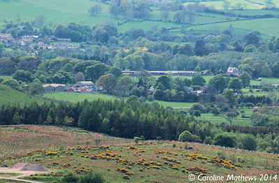 Warcop Station from Fox Tower, 14th May 2014