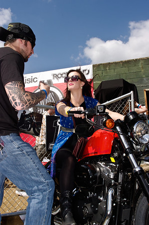 Harley Davidson exhibit at the South by Southwest Music Fest in Austin, Texas.