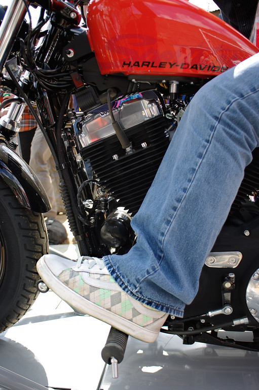 What kind of shoes should you wear to drive a Harley?