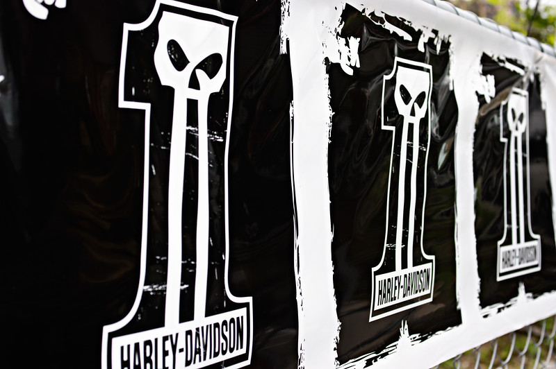 The Infamous Harley-Davidson Logo Banner.