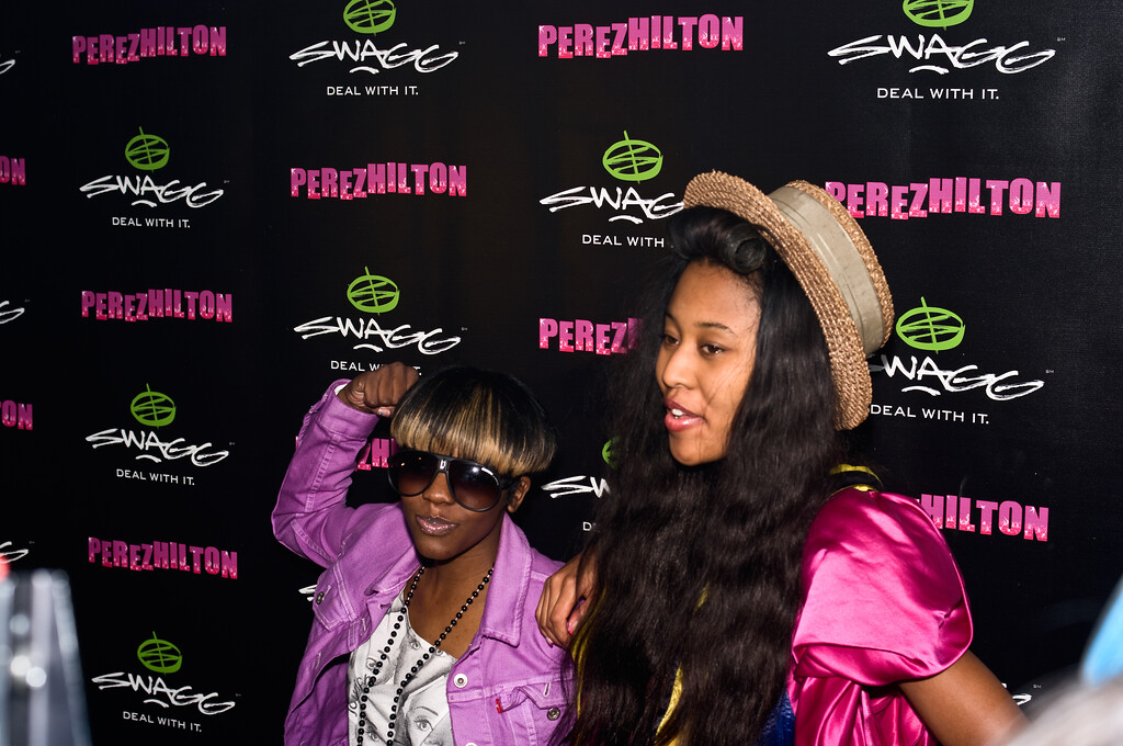 VV Brown (on right); Perez Hilton SXSW Party 2010.