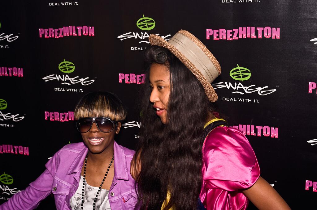 VV Brown (on right); Perez Hilton SXSW Party 2010.<br /> (Pentax K20D, DA 40mm lens)