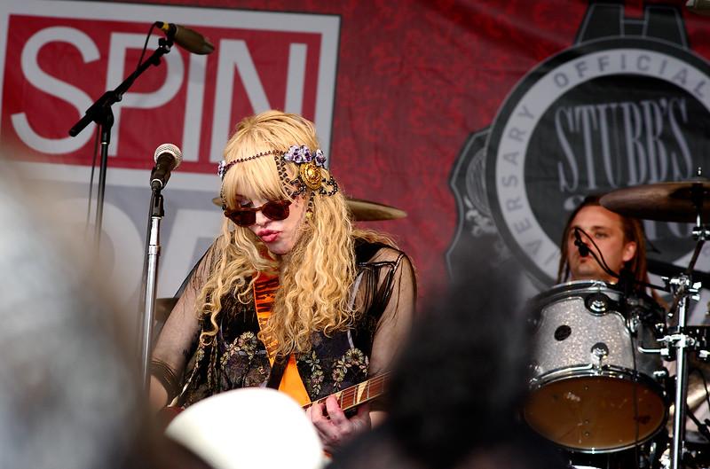 Courtney Love with Hole; SXSW 2010.<br /> (Pentax K20D, DA 70mm lens)