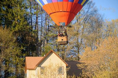 Balloon over Quechee Village Green, Vermont