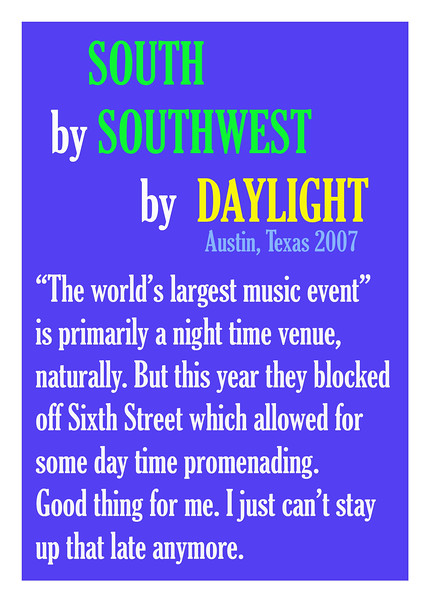 South by Southwest by Daylight
