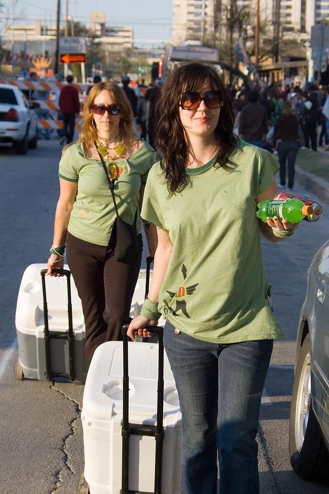 SXSW: Beverage Girls Dispensing Free Drinks