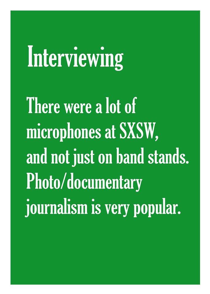 SXSW: Interviewing