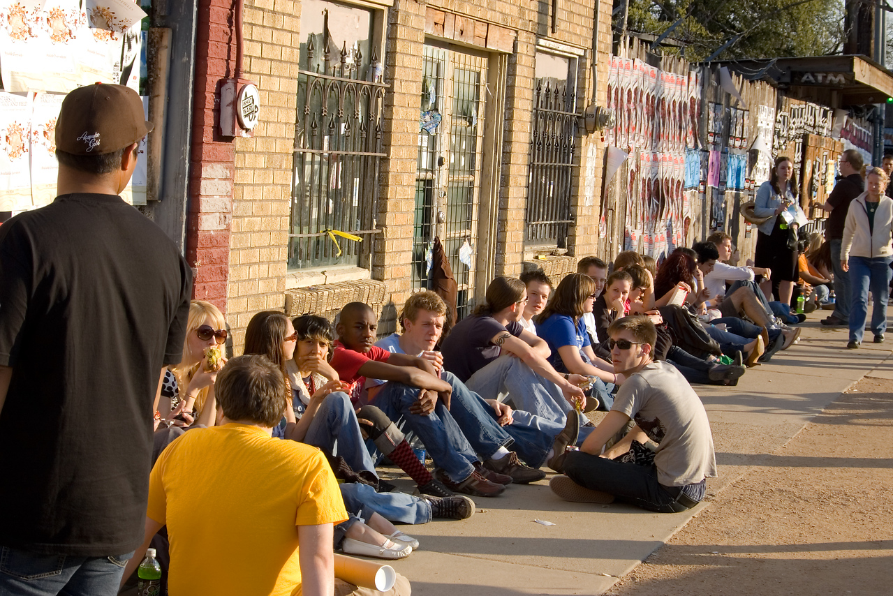 SXSW: Some ways to wait are better than others.