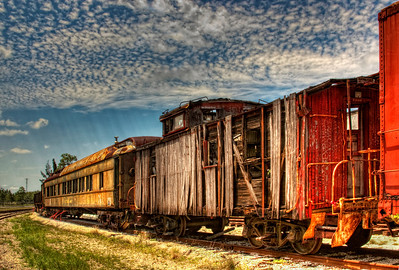 Tattered wooden caboose ll