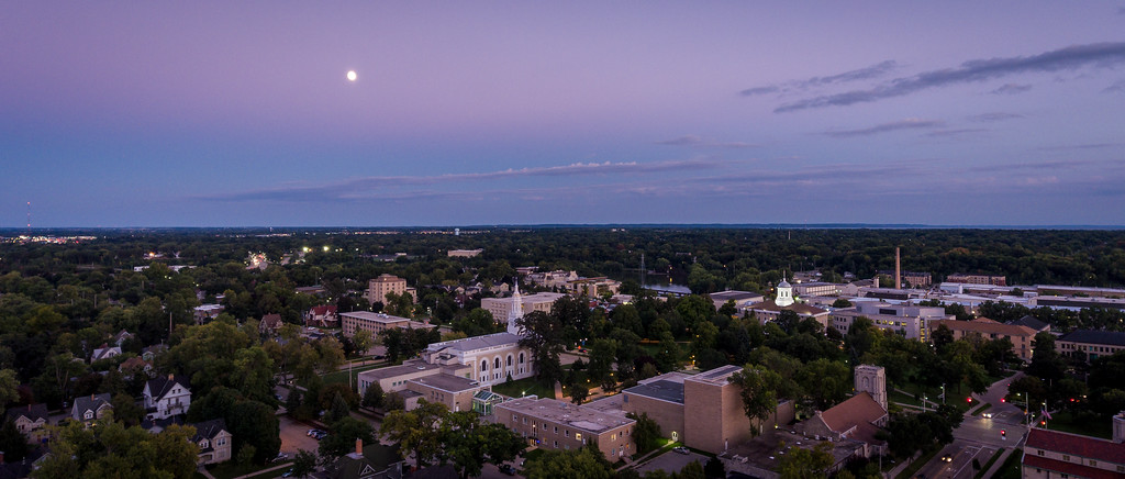 Moon over campus