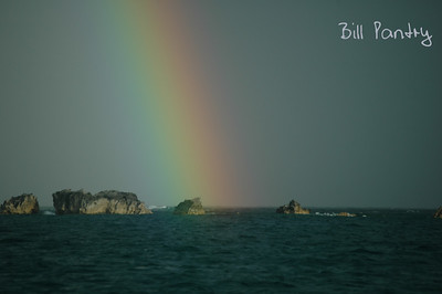 rainbow off Clearwater, St Davids