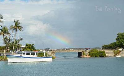 Rainbow over Flatts Bridge