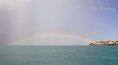 rainbow off North Shore