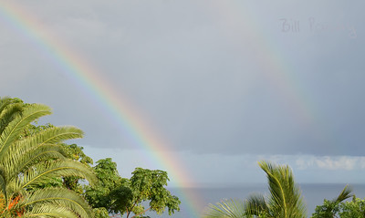View of a rainbow from Monk's Bunk, Smiths, Bermuda
