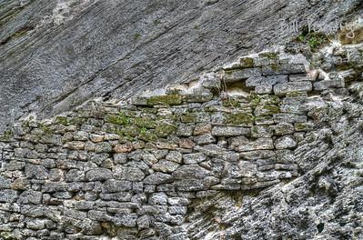 Stone wall along Railway Trail in Sandys