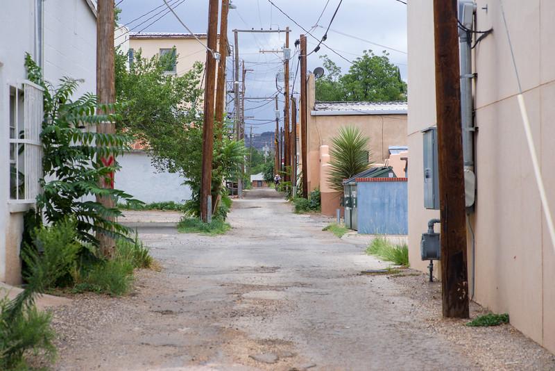 Back alley in Alpine, TX