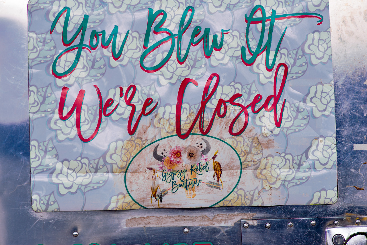 Too late for the Gypsy Rebel Boutique in Alpine, TX