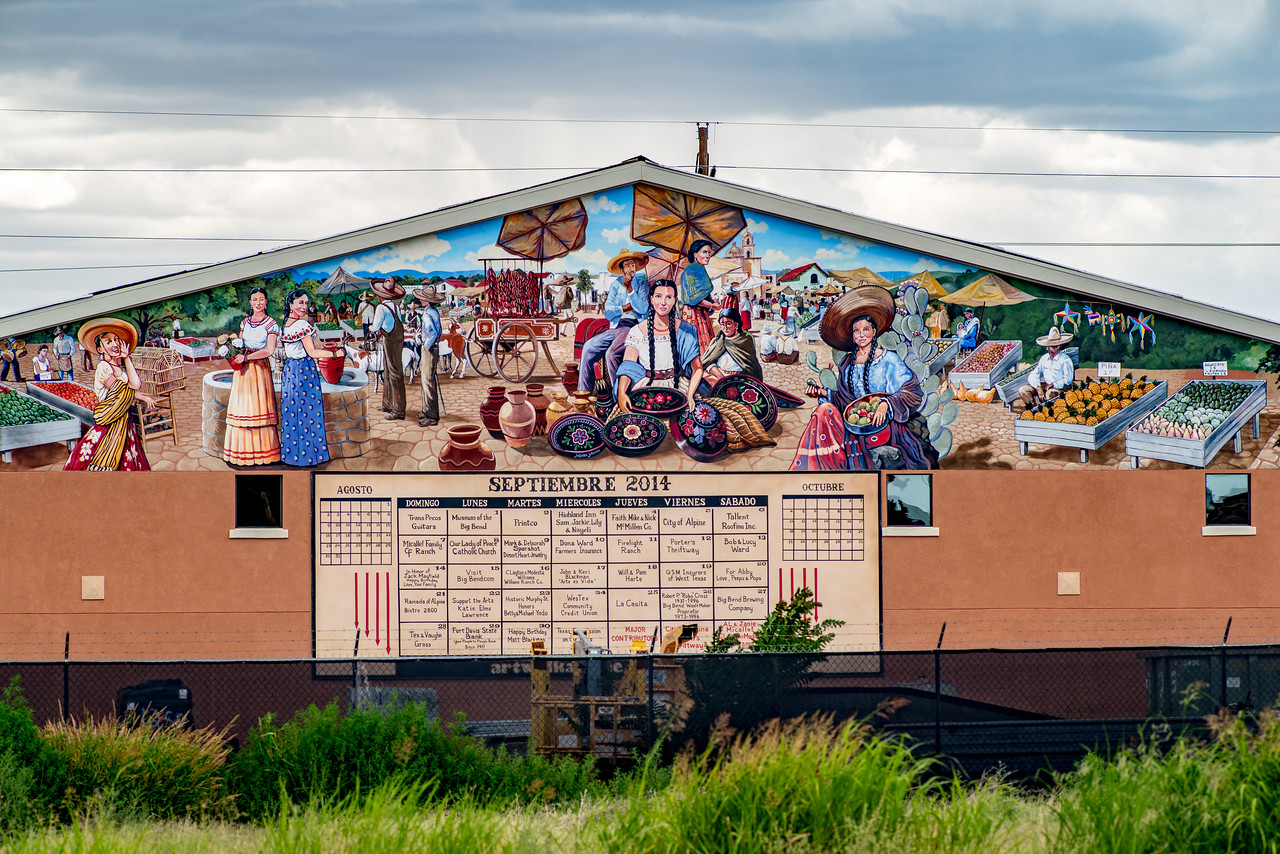 Murals are very much a part of Alpine, TX