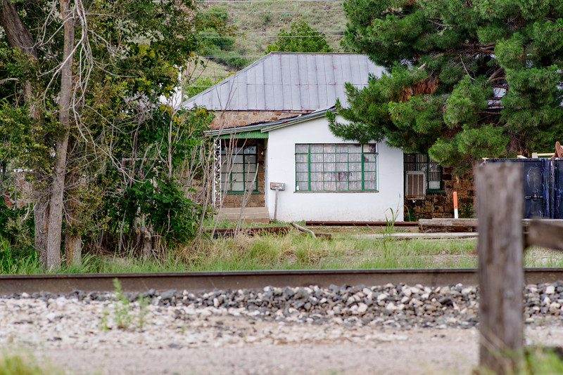 Houses by the railroad tracks in Alpine, TX