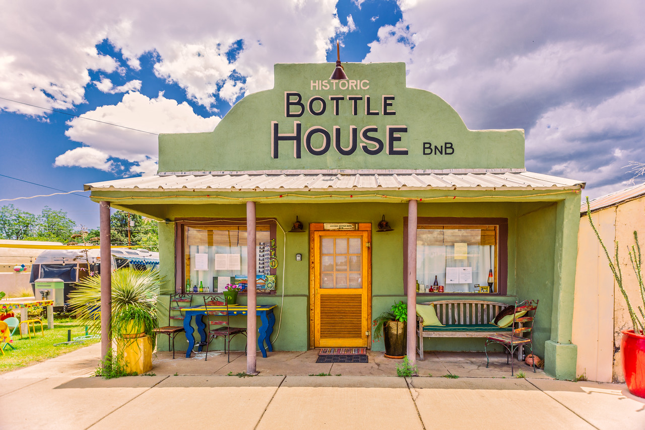 Bottle House BnB in Alpine, TX